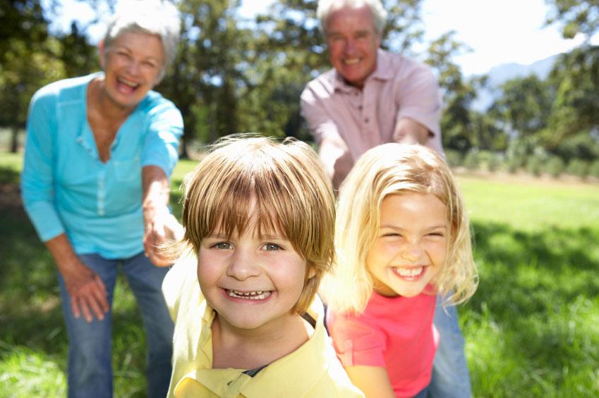 Petits enfants et grands parents