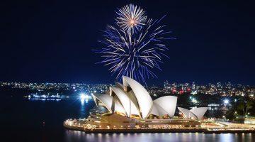 Nouvel An à Sydney Australie - Feux d'artifice