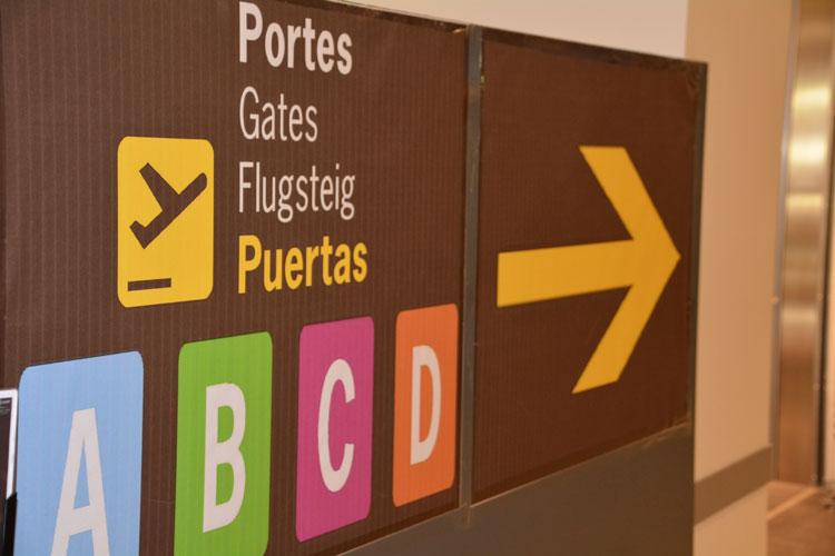 aéroport panneau