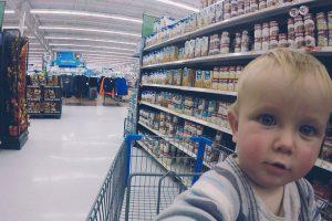 Etats-Unis avec bébé supermarché