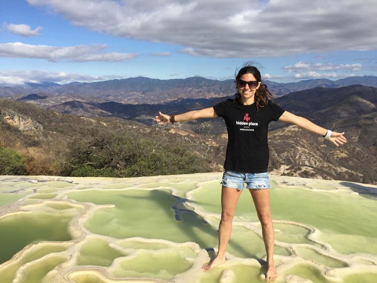 Rachel Découverte Monde Hierve el agua Mexique