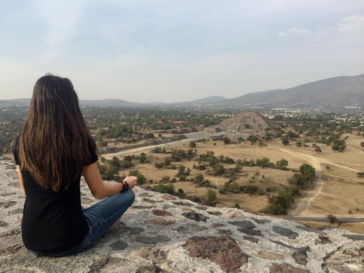 Rachel découverte monde Teotihuacan Mexique