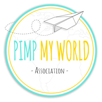 Logo Pimp My World fond blanc