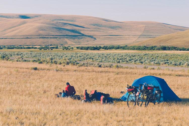 voyage à vélo camping