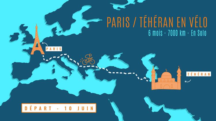 Voyage Paris Téhéran départ