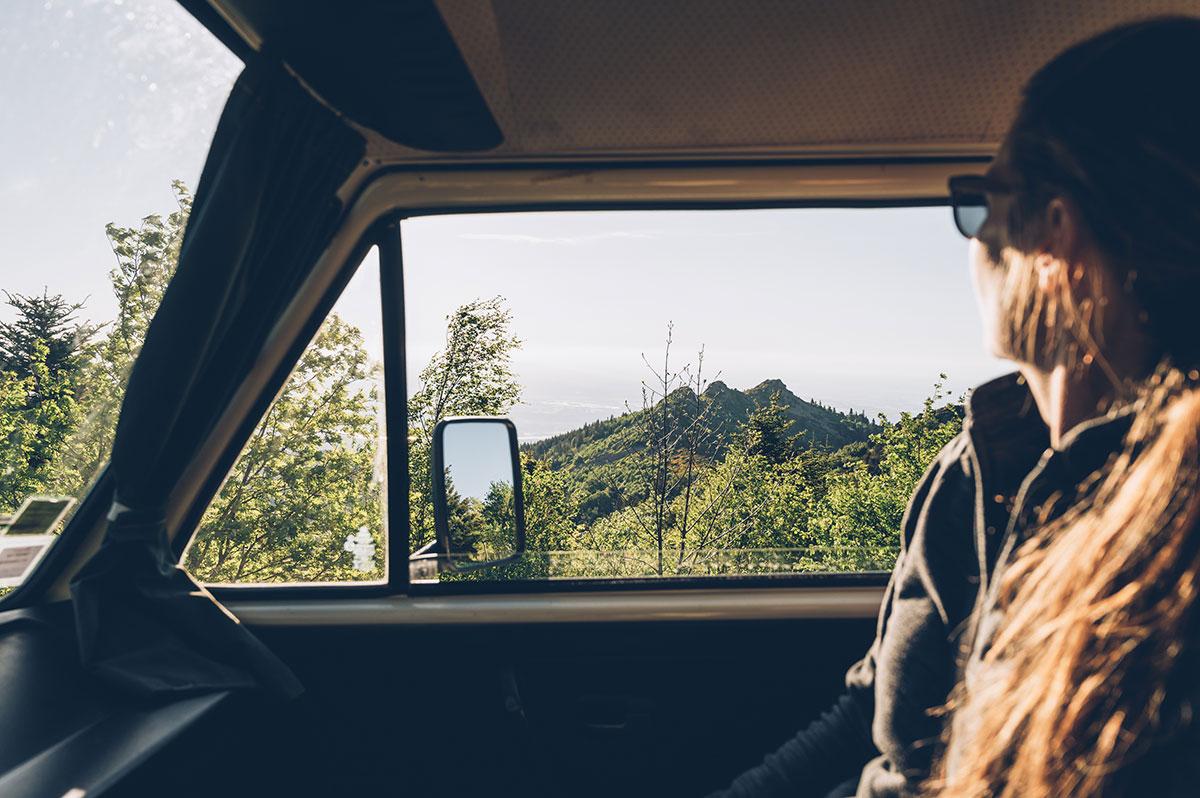 Paysage lors du road trip en van